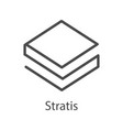 stratis icon for internet money crypto currency vector image vector image