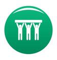 strong teamwork icon green vector image vector image