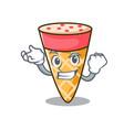 successful ice cream tone character cartoon vector image vector image