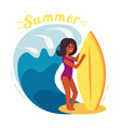 summer surfer girl vector image