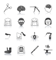 Surgery icons black vector image