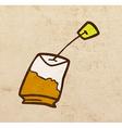 Tea Bag Cartoon vector image