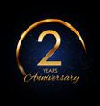 template logo 2 year anniversary vector image