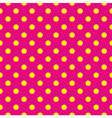 Tile pattern yellow polka dots pink background vector image vector image