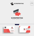 traditional screen printing logo template and vector image