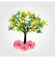 tree icon design vector image vector image