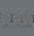 trees first snow winter christmas landscape vector image