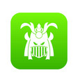 tribal helmet icon digital green vector image vector image