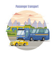urban public passenger vehicles template vector image vector image