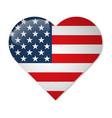 usa flag in shape heart vector image