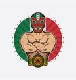 vintage mexican wrestler design vector image