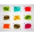 Watercolor ink splash Quote blank templates vector image