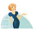 woman presentation vector image vector image