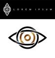 celtic eye symbol gold black monochromatic vector image