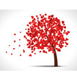 Valentine tree with hearts for your design vector image