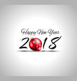 2018 happy new year background for seasonal vector image vector image