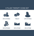 6 therapy icons vector image vector image