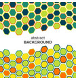 abstract background with color hexagons elements vector image