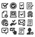 approve icons set on white background vector image