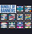 bundel of banner template vector image