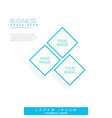 business brochure flyer design template geometric vector image