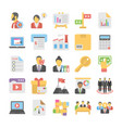 business flat colored icons 5 vector image vector image