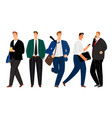 businessmen with coffee and phone vector image