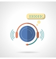 Call center abstract flat color icon vector image