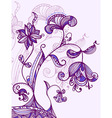 card with abstract blueviolet flowers vector image vector image