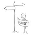 cartoon frustrated man or businessman vector image vector image