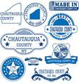 Chautauqua county New York vector image vector image
