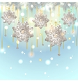 Christmas Card with silver snowflakes decoration vector image vector image