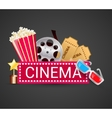 Cinema icons concept vector image vector image