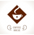 Coffee house coffee cup background vector image vector image