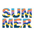 colorful summer word vector image vector image