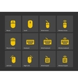 Desktop computer mouse and keyboard icons vector image