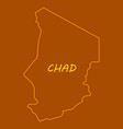 detailed of a map of chad with flag eps10 vector image vector image