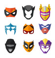 different superheroes masks for kids vector image vector image