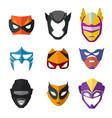 different superheroes masks for kids vector image