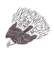 Dont Ask Act Hand drawn stylized eagle Print vector image vector image