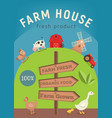 farm house poster vector image vector image