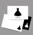 fashion dress template vector image vector image