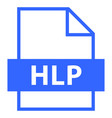 file name extension hlp type vector image vector image