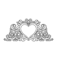 floral heart frame for design vector image vector image