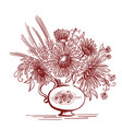 floristic composition vintage bouquet of vector image vector image