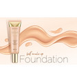 foundation makeup advertising design template for vector image