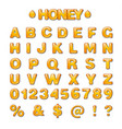 gold capital letters vector image