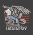 griffin eagle american army symbol vector image