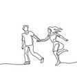 happy running couple vector image vector image