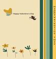 Happy Valentines Day Beige vector image
